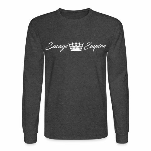 Crown Grey Longsleeve - Men's Long Sleeve T-Shirt