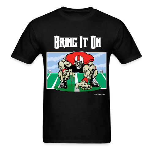 Football - Bring it on 001 - wb - Men's T-Shirt