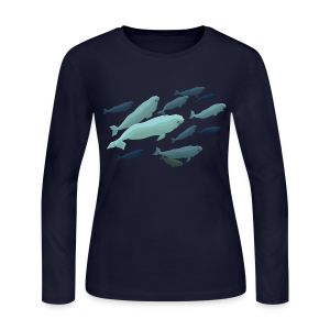 Beluga Whale Shirts Women's Beluga Shirts & Gifts - Women's Long Sleeve Jersey T-Shirt
