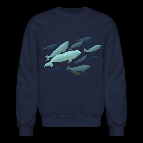 Beluga Whale Shirts Baby Beluga Whale Sweatshirts  - Crewneck Sweatshirt