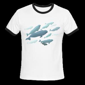Beluga Whale Shirts Men's Beluga Shirts & Gifts - Men's Ringer T-Shirt