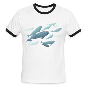 Beluga Whale Shirts Men's Beluga Shirts & Gifts - Men's Ringer T-Shirt