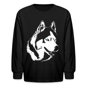 Kid's Husky Shirt Long Sleeve Husky Malamute Shirt - Kids' Long Sleeve T-Shirt