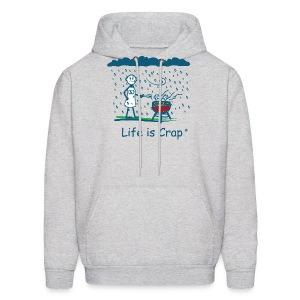 BBQ Rain - Mens Hooded Sweatshirt - Men's Hoodie