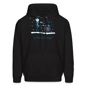 BBQ Snow - Mens Hooded Sweatshirt - Men's Hoodie
