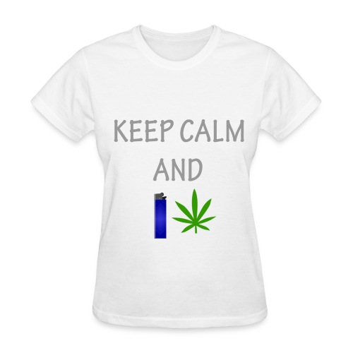 Keep Calm and Smoke (Womans) - Women's T-Shirt