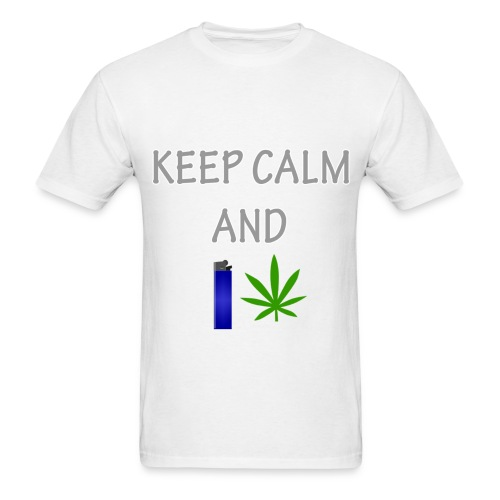 Keep Calm and Smoke (Mens) - Men's T-Shirt