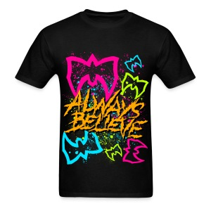 Ultimate Warrior Always Believe Neon Shirt - Men's T-Shirt