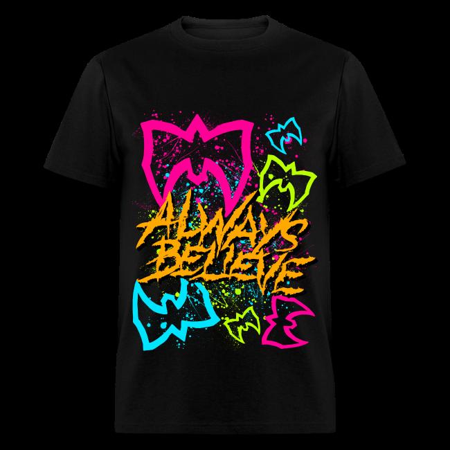 Ultimate Warrior Always Believe Neon Shirt