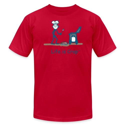 BBQ Steak Drop - Mens T-shirt by American Apparel - Men's Fine Jersey T-Shirt