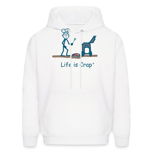 BBQ Steak Drop - Mens Hooded Sweatshirt - Men's Hoodie