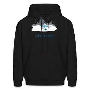 Ice Fishing - Men's Hooded Sweatshirt - Men's Hoodie