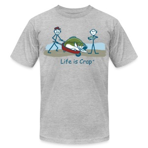 Bass Fish - Men's Tee by American Apparel - Men's T-Shirt by American Apparel