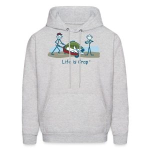 Bass Fish - Men's Hooded Sweatshirt - Men's Hoodie