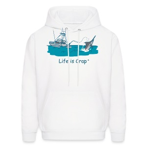 Marlin Line Snap - Men's Hooded Sweatshirt - Men's Hoodie