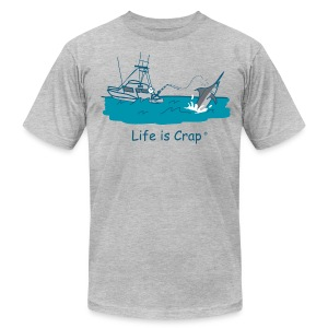 Marlin Line Snap - Men's Tee by American Apparel - Men's T-Shirt by American Apparel