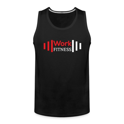 Work Fitness Basic Tank Top Black - Men's Premium Tank
