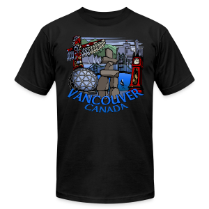 Vancouver T-shirt Men's Plus Size Vancouver Canada Shirt - Men's T-Shirt by American Apparel