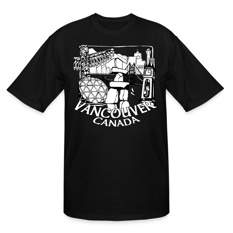 Vancouver T-shirt Men's Plus Size Vancouver Canada Shirt - Men's Tall T-Shirt