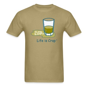 Glass Half Empty - Mens Classic T-shirt - Men's T-Shirt