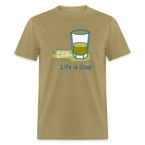 Glass Half Empty - Mens Classic T-shirt - Men's T-Shirt