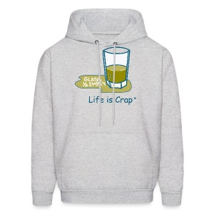 Glass Half Empty - Mens Hooded Swestshirt - Men's Hoodie