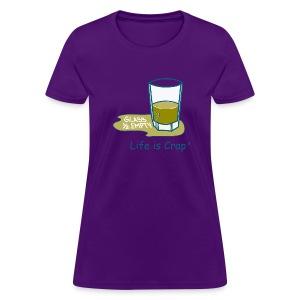 Glass Half Empty - Womens Classic T-shirt - Women's T-Shirt