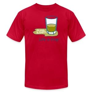 Glass Half Empty - Mens T-shirt by American Apparel - Men's Fine Jersey T-Shirt