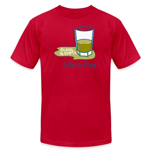 Glass Half Empty - Mens T-shirt by American Apparel - Men's Fine Jersey T-Shirt