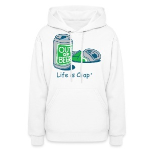 Out Of Beer Cans - Womens Hooded Sweatshirt - Women's Hoodie
