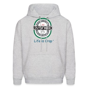 Out Of Beer Label - Mens Hooded Sweatshirt - Men's Hoodie