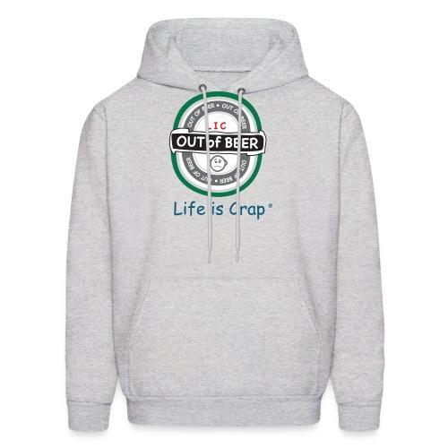 Out Of Beer Label - Mens Hooded Sweatshirt - Men's Hoodie