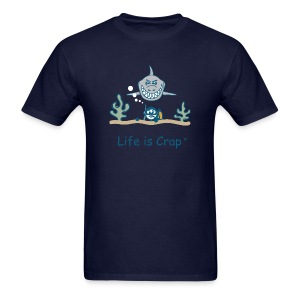 Scuba Shark - Mens Classic T-shirt - Men's T-Shirt