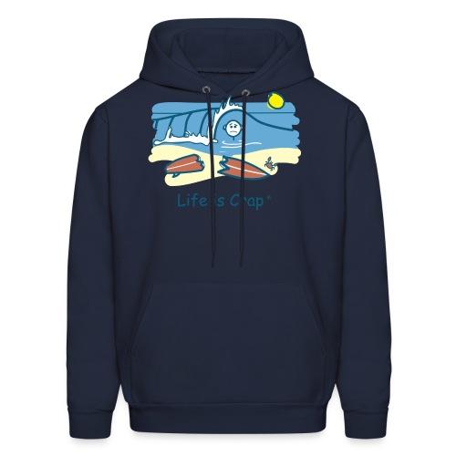 Surfing Wipeout - Mens Hooded Sweatshirt - Men's Hoodie