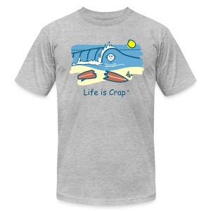 Surfing Wipeout - Mens T-shirt by American Apparel - Men's Fine Jersey T-Shirt