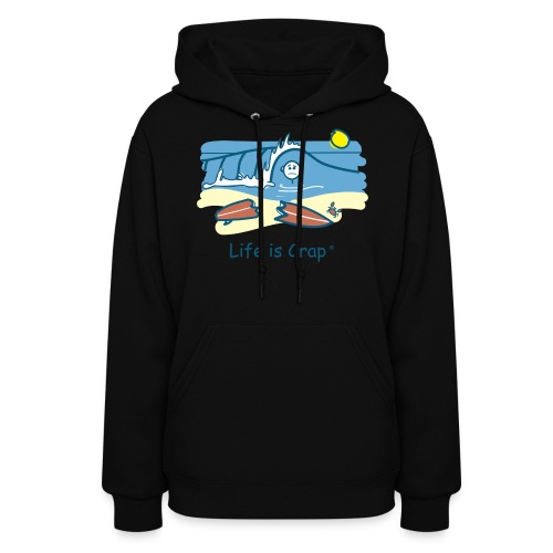 Surfing Wipeout - Womens Hooded Sweatshirt - Women's Hoodie