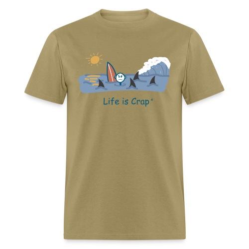 Sharks Circling Surfing - Mens Classic T-shirt - Men's T-Shirt