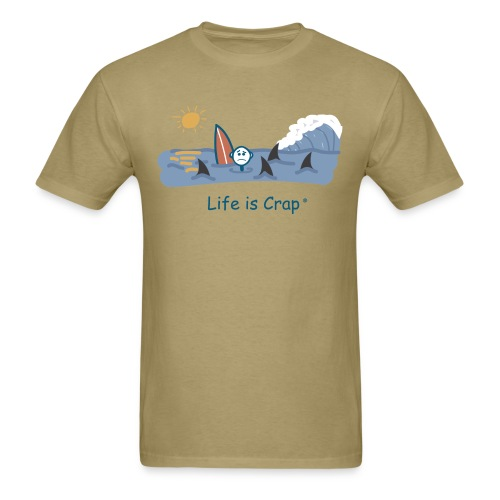 Sharks Circling Surfing - Mens Classic T-shirt - Men's T-Shirt