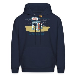 Beach Closed - Mens Hooded Sweatshirt - Men's Hoodie