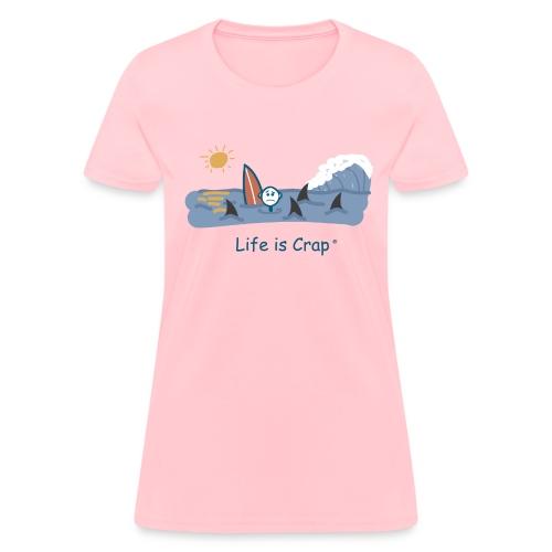 Sharks Circling Surfing - Womens Classic T-shirt - Women's T-Shirt