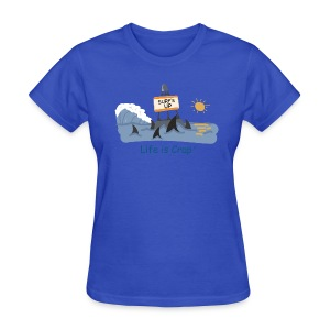 Surfs Up Sharks - Womens Classic T-shirt - Women's T-Shirt