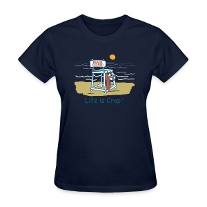 Beach Closed - Womens Classic T-shirt - Women's T-Shirt