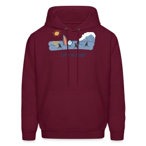Sharks Circling Surfing - Mens Hooded Sweatshirt - Men's Hoodie