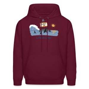 Surfs Up Sharks - Mens Hooded Sweatshirt - Men's Hoodie