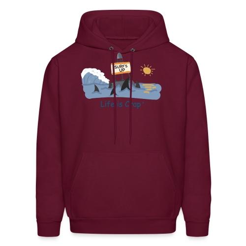 Surfs Up Sharks - Mens Hooded Sweatshirt - Men's Hoodie