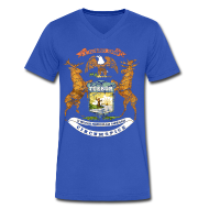 T-Shirts ~ Men's V-Neck T-Shirt by Canvas ~ Si Quæris Peninsulam Amœnam Circumspice