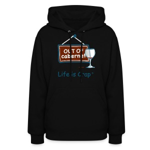 Out Of Cabernet - Womens Hooded Sweatshirt - Women's Hoodie