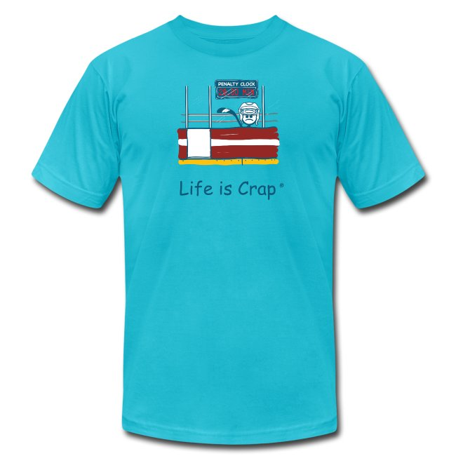 Penalty Box Hockey - Mens T-Shirt by American Apparel