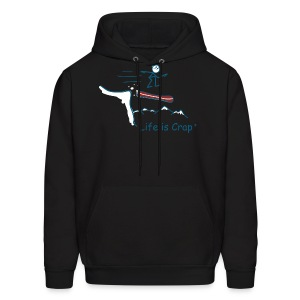 Snowboard Cliff - Mens Hooded Sweatshirt - Men's Hoodie