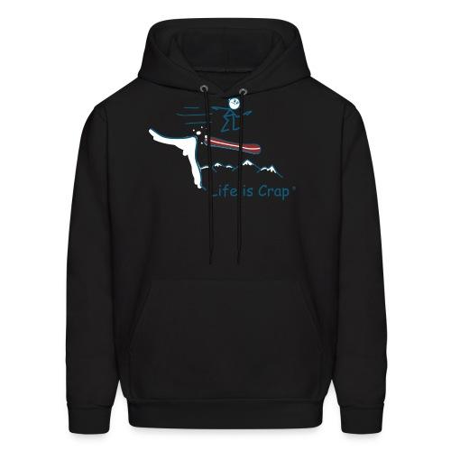 Snowboard Cliff - Mens Hooded Sweatshirt - Men's Hoodie